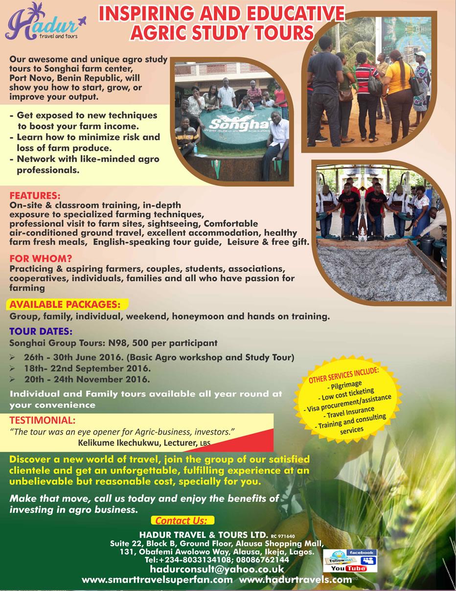 Hadur fliers for agric tour