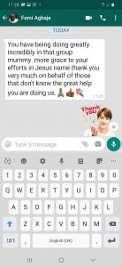 Testimonial from Whats app Group Member