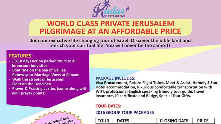 Hadur jerusalem pilgrimage